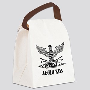 Roman Eagle 13 Legion ii blk Canvas Lunch Bag
